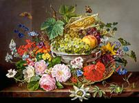 Still Life with Flowers and Fruit Basket WT20065